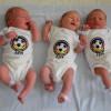 Neugeborene drücken DFB-Elf in WM-Bodys die Daumen / WM-Fieber in der Asklepios Klinik Nord – Heidberg (Hamburg) (FOTO)