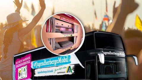 DJH bringt die erste fahrende Jugendherberge der Welt an den Start (FOTO)