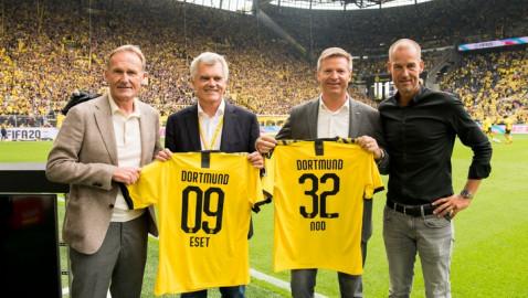 #EureLiebeIstSicher: ESET offiziell als neuer Sponsor von Borussia Dortmund vorgestellt (FOTO)