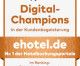 ehotel® zählt als Branchensieger zu den Digital-Champions 2020